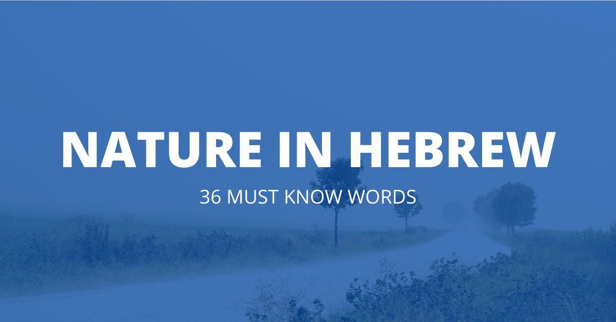 nature in hebrew featured post