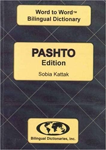 English-Pashto & Pashto-English Word-to-Word Dictionary: Suitable for Exams by C. Sesma (2011-12-17) Paperback – January 1, 2008